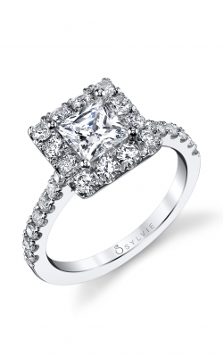 Sylvie Halo Engagement ring S1199-082A8W10P product image
