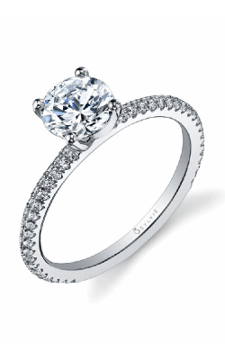 Sylvie Sidestone Engagement Ring SY131-0030/A8W product image