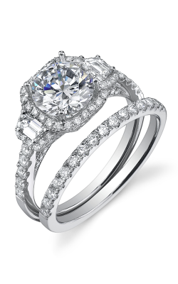 Sylvie Halo Engagement Ring SY172S-0060/A8W product image