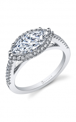Sylvie Halo Engagement Ring SY395-034A8W17M product image