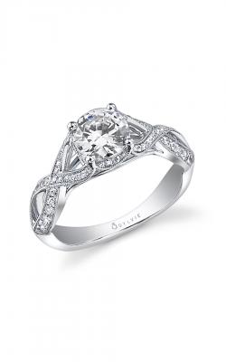 Sylvie Sidestone Engagement Ring SY429-0038/A8W product image
