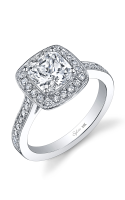Sylvie Halo Engagement ring SY865-039A8W66C product image