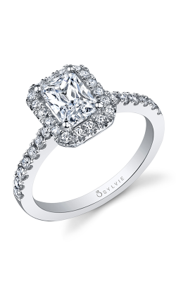 Sylvie Halo Engagement Ring SY999-044A8W75E product image