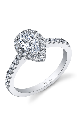 Sylvie Halo Engagement Ring SY999-041A8W85T product image