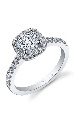 Sylvie Halo Engagement Ring SY999-41A8W10RCH product image