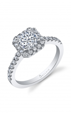 Sylvie Halo Engagement Ring SY999-41A8W10RSH product image