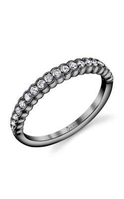 Sylvie Wedding Band B0010 BLK RHOD product image