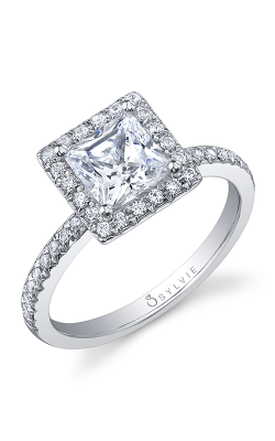 Sylvie Halo Engagement ring, S1008-028A4W10P product image