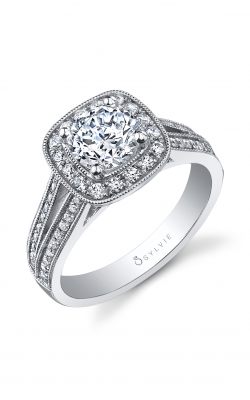 Sylvie Halo Engagement Ring S1027-040A8W10R product image
