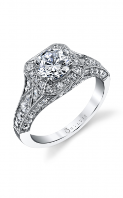 Sylvie Halo Engagement Ring S1220-108A8W10R product image