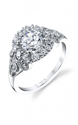 Sylvie Halo Engagement Ring S1242-074A8W10R product image