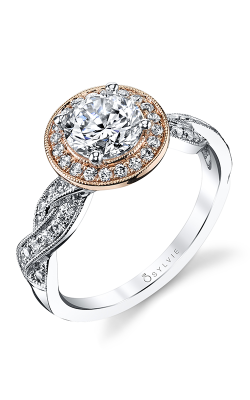 Sylvie Halo Engagement ring SY897-036A8K10R product image