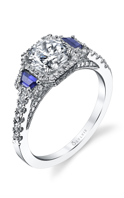Sylvie Halo Engagement ring S4112S-74A8W10R product image