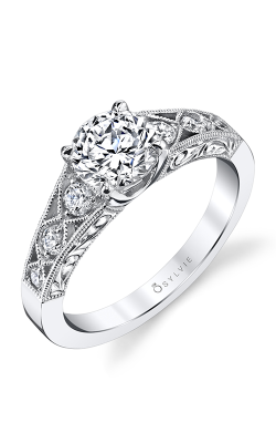 Sylvie Sidestone Engagement ring S1369-022A8W10R product image