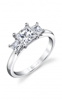 Sylvie Three Stone Engagement ring S3006S-46A8W10P product image