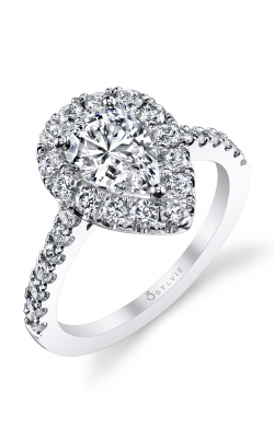 Sylvie Halo Engagement ring S1199-081A8W15T product image