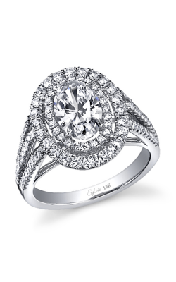 Sylvie Halo Engagement ring SY383-0096/A8W product image