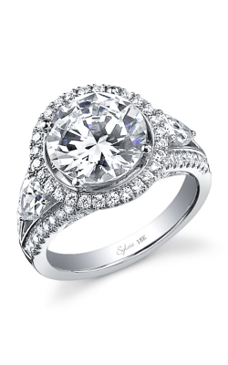 Sylvie Halo Engagement ring SY557S-91A8W15R product image