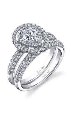 Sylvie Halo Engagement Ring SY688 product image
