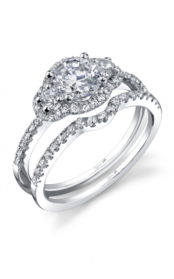 Sylvie Three Stone Engagement Ring SY693S-0048/A8W product image