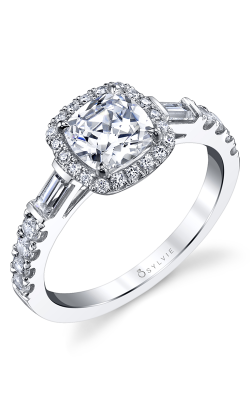 Sylvie Halo Engagement ring S1349S-70A8W10C product image