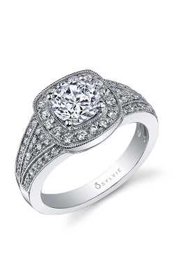 Sylvie Halo Engagement Ring S1034-050A8W10R product image