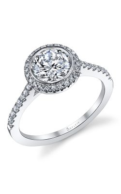 Sylvie Halo Engagement Ring S1091-027A8W12R product image