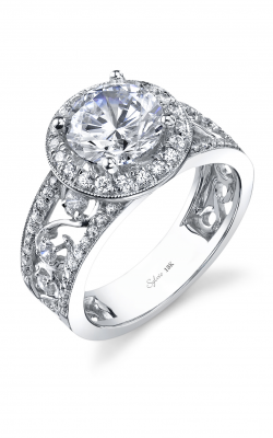 Sylvie Halo Engagement Ring SY731-0062/A8W product image