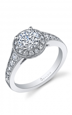 Sylvie Halo Engagement Ring SY863-055A8W10R product image