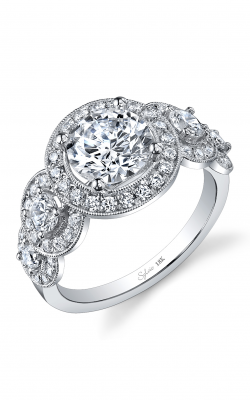 Sylvie Three Stone Engagement Ring SY878S-099A8W15R product image