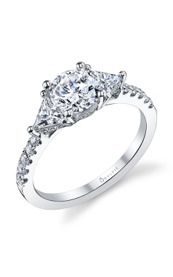 Sylvie Three Stone Engagement ring S1084S-63A8W10R product image