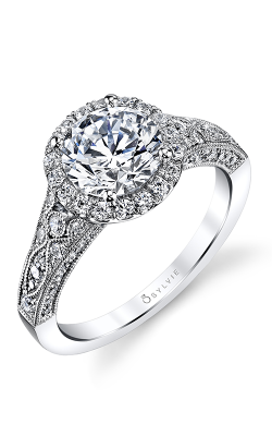 Sylvie Halo Engagement Ring S1409-076A8W15R product image