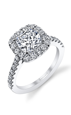 Sylvie Halo Engagement ring S1199-072A8W15C product image