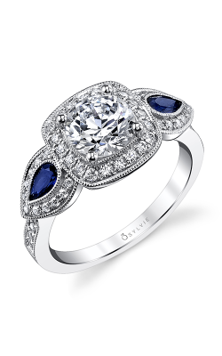 Sylvie Three Stone Engagement Ring S4110S-76A8W10RC product image