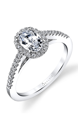 Sylvie Halo Engagement ring SY590-31A8W10O product image