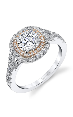Sylvie Halo Engagement Ring S1100-46A8K10RCH product image