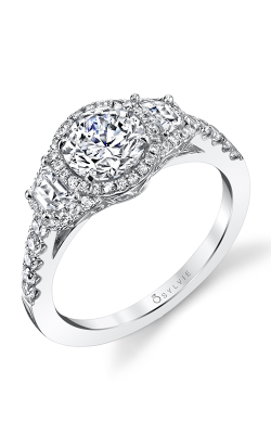 Sylvie Three Stone Engagement ring S1381S-75A8W10RR product image