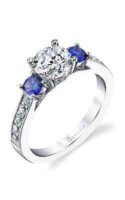 Sylvie Three Stone Engagement ring S4111S-67A8W10R product image