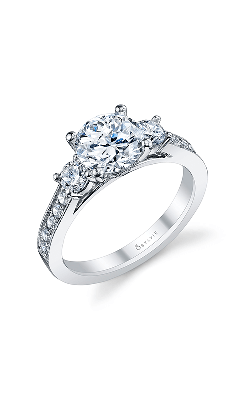 Sylvie Three Stone Engagement Ring S1083S-57A8W10R product image