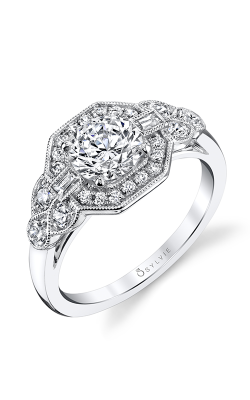 Sylvie Halo Engagement Ring S1359S-57A8W10R product image