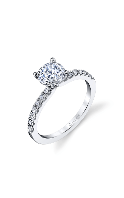 Sylvie Sidestone Engagement Ring S1498-024A8W10R product image