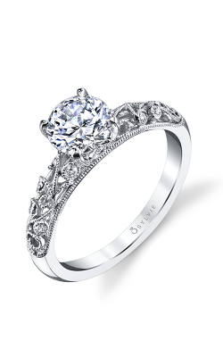 Sylvie Sidestone Engagement Ring S1500-006A8W10R product image