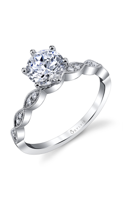 Sylvie Sidestone Engagement Ring S1509-009A8W10R product image
