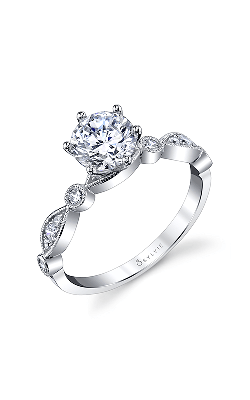 Sylvie Sidestone Engagement Ring S1511-018A8W10R product image