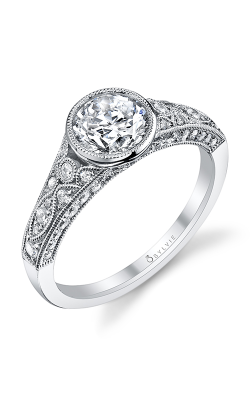 Sylvie Sidestone Engagement Ring S1132-054APL10R product image