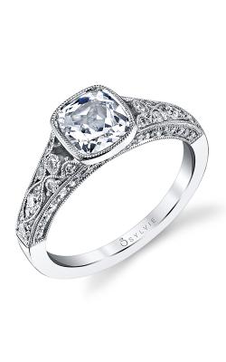 Sylvie Sidestone Engagement ring S1132-054APL12C product image