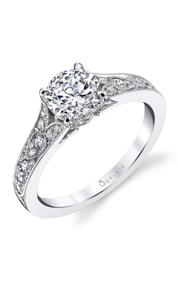 Sylvie Sidestone Engagement Ring S1389-030A4W10R product image