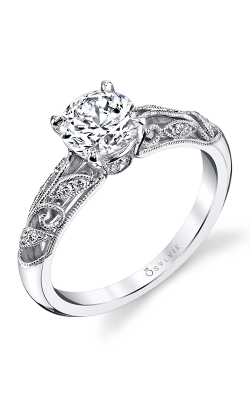 Sylvie Sidestone Engagement Ring S1392-012A4W10R product image