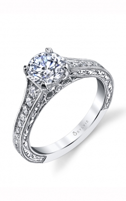 Sylvie Sidestone Engagement Ring S1534-029A4W10R product image