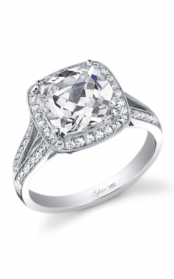 Sylvie Halo Engagement ring SY453-035A4W65C product image